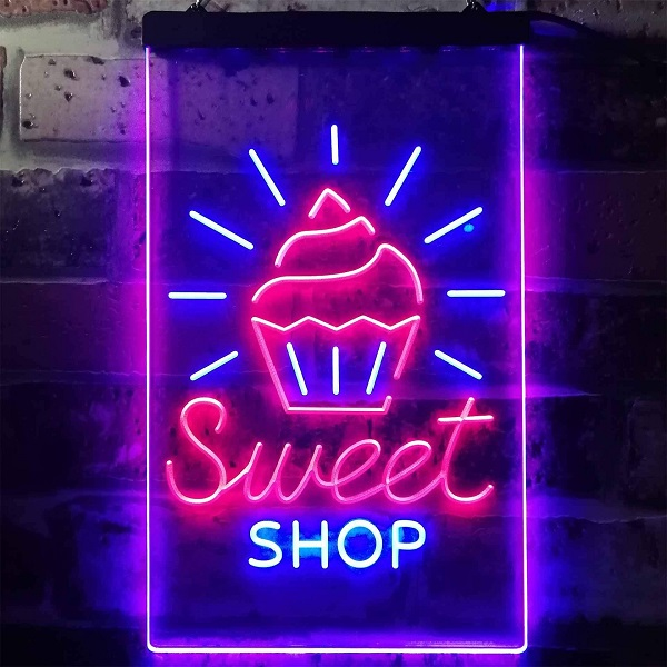 biển quảng cáo led cửa hàng kem