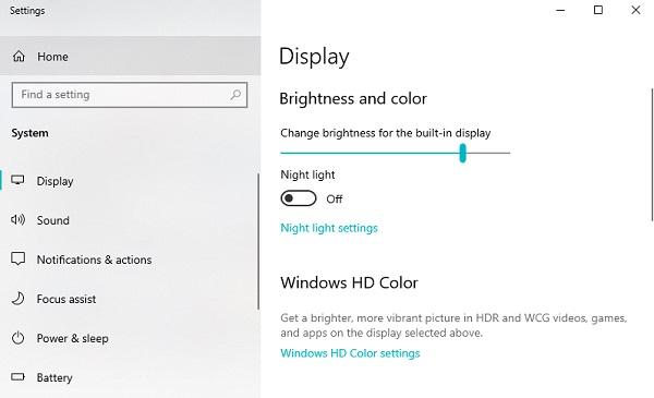 cách giảm độ sáng màn hình laptop