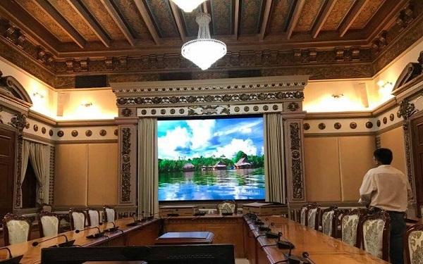 dự án màn hình led p2.5 tại văn phòng ủy ban nhân dân
