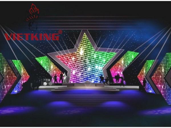 màn hình led hình sao trên sân khấu