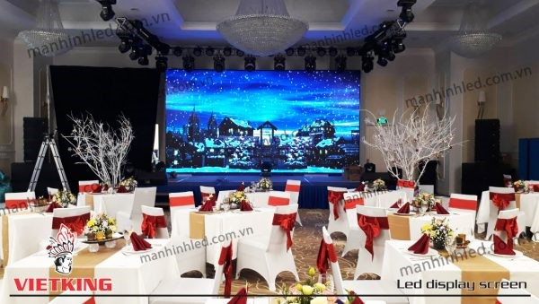 màn hình led P3 sân khấu sảnh tiệc