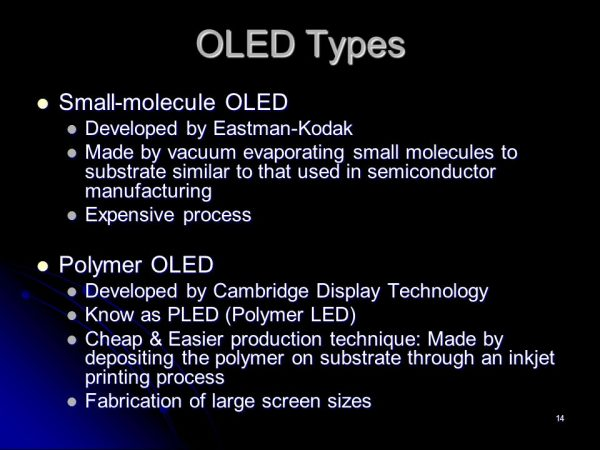 phân loại dựa trên kích thước phân tử hữu cơ