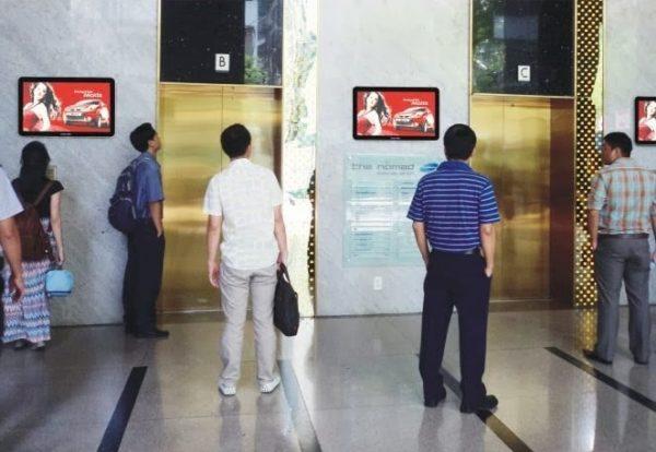 Quảng cáo tại tòa nhà chung cư