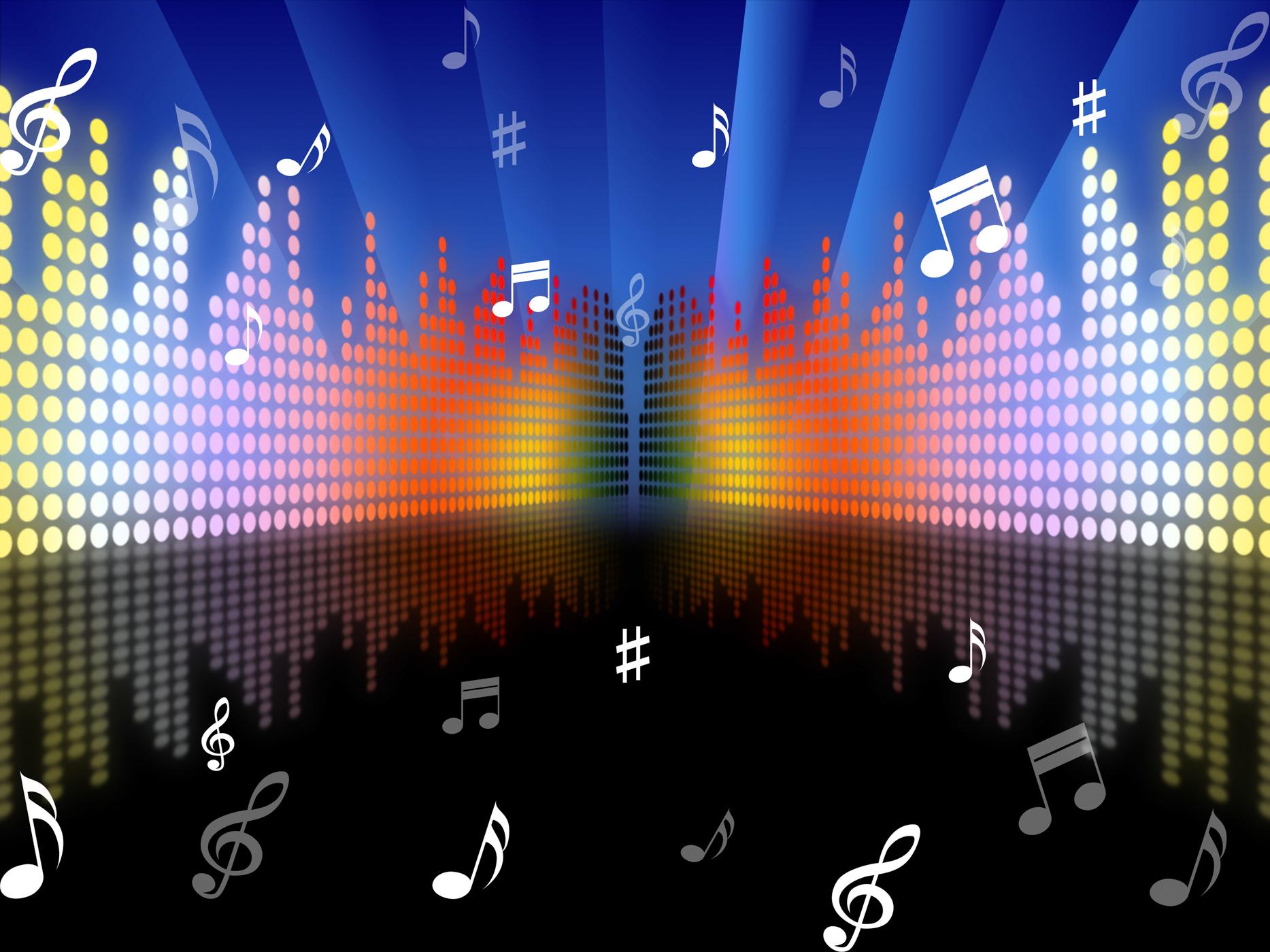 background màn hình led âm nhạc