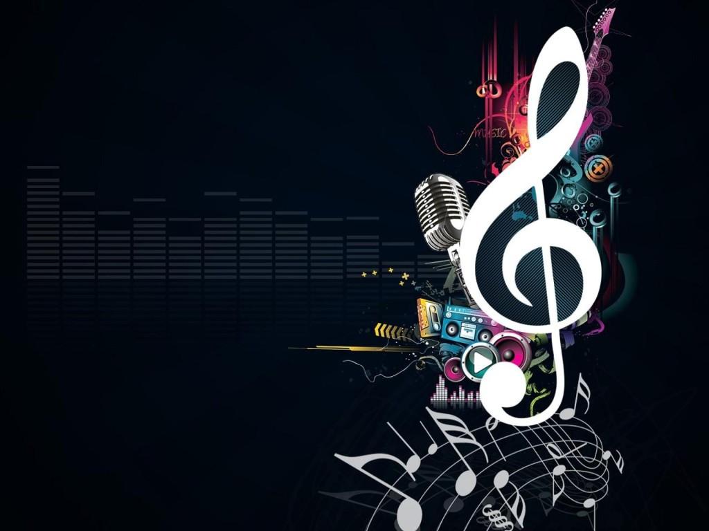 background màn hình led hình nốt nhạc
